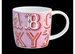 Carnival Alphabet Pink Bone China