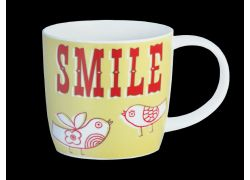 Carnival Smile Yellow bone china