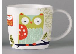 Folkland Barn Owl White bone china
