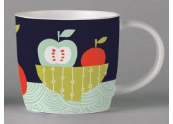 Folkland Still Life Dark Grey bone china