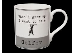 Grow Up Golfer bone china mug