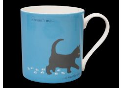 Silhouette LARGE Kitten Blue Bone China Mug