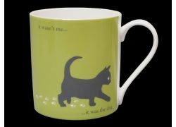 Silhouette LARGE Kitten Green Bone China Mug