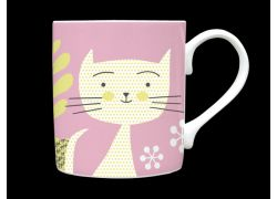 Kitti Pink Bone China Mug