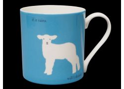 Silhouette LARGE Lamb Blue Bone China Mug