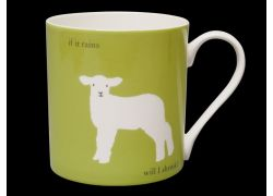 Silhouette LARGE Lamb Green Bone China Mug