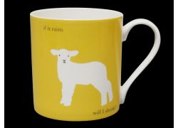 Silhouette LARGE Lamb Yellow Bone China Mug