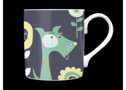 Mutt Sage Green Bone China Mug