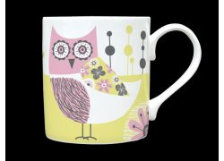 Owl Pink Bone China Mug