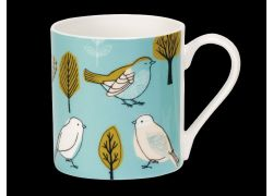 Sketchy Birdville Bone China Mug