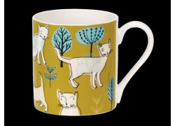 Sketchy Catville Bone China Mug