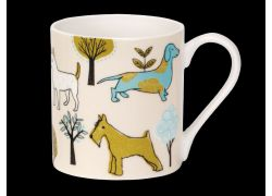 Sketchy Dogville Bone China Mug