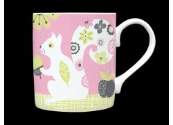 Squirrel Pink Bone China Mug