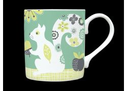 Squirrel Sage Green Bone China Mug