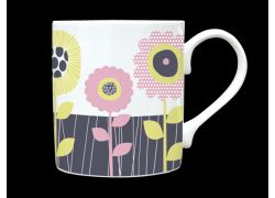 Sunflower Pink Bone China Mug