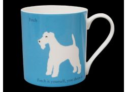 Silhouette LARGE Terrier Blue Bone China Mug