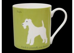 Silhouette LARGE Terrier Green Bone China Mug