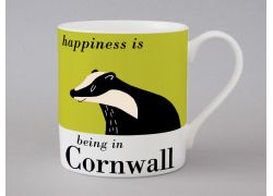 A bone china Cornwall mug by Repeat Repeat