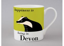 A bone china Devon mug by Repeat Repeat