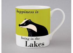 A bone china Lakes mug by Repeat Repeat