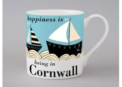 A bone china Cornwall boat mug by Repeat Repeat