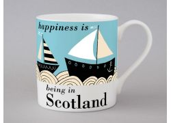 A bone china Scotland boat mug by Repeat Repeat