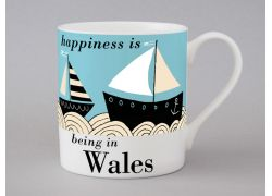 A bone china Wales boat mug by Repeat Repeat