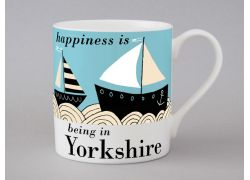 A bone china Yorkshire boat mug by Repeat Repeat