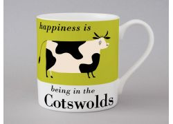 A bone china Cotswolds cow mug by Repeat Repeat