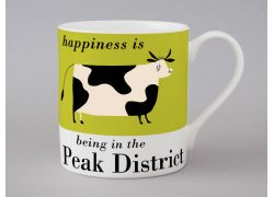 A bone china Peak District cow mug by Repeat Repeat