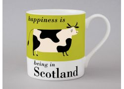 A bone china Scotland cow mug by Repeat Repeat