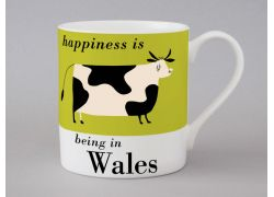 A bone china Wales cow mug by Repeat Repeat