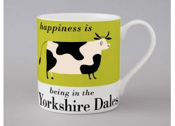 A bone china Yorkshire Dales cow mug by Repeat Repeat