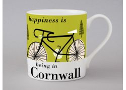 A bone china Cornwall cycling mug by Repeat Repeat