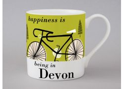 A bone china Devon cycling mug by Repeat Repeat
