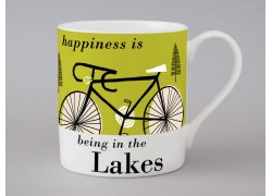 A bone china Lakes cycling mug by Repeat Repeat
