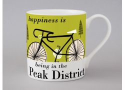 A bone china Peak District cycling mug by Repeat Repeat