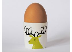 A bone china stag egg cup by Repeat Repeat