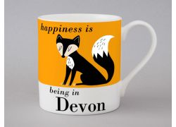 A bone chin Devon mug by Repeat Repeat