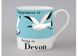 A bone china Devon seagulls mug by Repeat Repeat