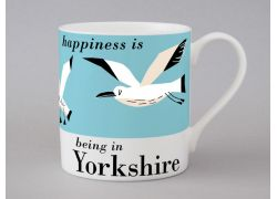A bone china Yorkshire seagulls mug by Repeat Repeat