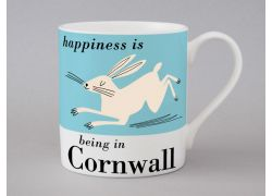 A bone china Cornwall Hare mug by Repeat Repeat
