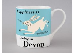 A bone china Devon Hare mug by Repeat Repeat