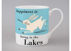 A bone china Lakes Hare mug by Repeat Repeat