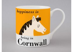 A bone china Cornwall Horse mug by Repeat Repeat