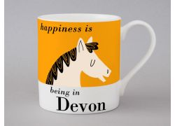 A bone china  Devon Horse mug by Repeat Repeat