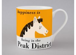 A bone china Peak District Horse mug by Repeat Repeat