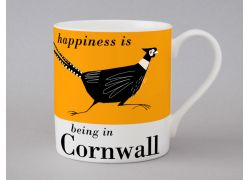 A bone china Cornwall pheasant mug by Repeat Repeat