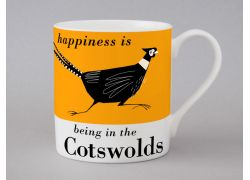 A bone china Cotswolds pheasant mug by Repeat Repeat
