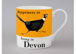 A bone china Devon pheasant mug by Repeat Repeat